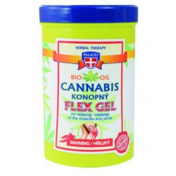 konopný masáýní gel hřejivý FLEX 380 ml